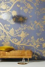 New ListingAnthropologie Helena Wallpaper Mural with birds butterflies whimsical trees New