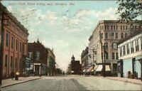 Meridian MS Fifth St. West c1920 Postcard jrf