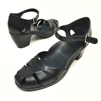 Dansko Ankle Strap Pumps Womens Sz 11.5 / 12 Eu42 Black Leather Shoes Sandals