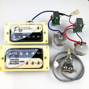 Les Paul Epiphone ProBucker Vintage Humbucker Kit Pickups Push/pull. ZEBRA! BLK