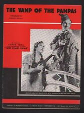 The Vamp of the Pampas 1935 George Burns Gracie Allen Sheet Music