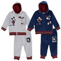 Disney Mickey Mouse Baby Boys Warm Outfit Clothes Set Tracksuit VELVET 0-24 Mont