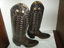 Vintage  Cowboy  Brown Boots Size  7.5 D Men Used