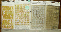 GOLD & SILVER 4 Styles Letter & Number Packs 12-35mm H & 2-40mm Wide Choice L2R