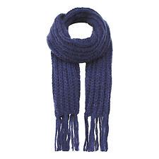 NEW SEASON Jendi NAVY Blue Ladies Warm Winter Scarf Wrap Shawl 4 Work w fringe