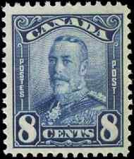 Canada #154 mint F-VF OG DG 1928 Scroll Issue 8c blue King George V CV$17.50