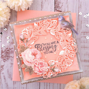 Flower Frame Metal Cutting Dies Wreath Stencils Scrapbooking Embossing Crafts
