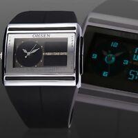 Schwarz Digital LED Armbanduhr Sportuhr wasserdichte Uhr Herrenuhr Gift