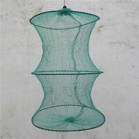 2 Layer Crab Fish Shrimp Minnow Fishing Bait Trap Cast N Net Cage-Folda Dip Z6O2