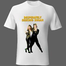 Mens T-Shirt Large película música buscando desesperadamente a Susan 80s Madonna vendedor del Reino Unido