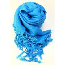 Bufandas y pañuelos de mujer de viscosa sin marca color principal azul