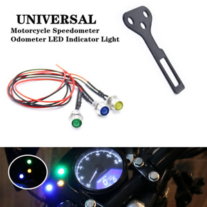Motorcycle Speedometer Odometer Instrument LED Indicator Light Lamps w/ Bracket