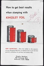 How to Get Best Results When Stamping With Kingsley Foil 1971