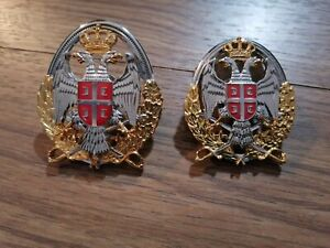 SERBIA MAN & WOMEN officer Badge Insignia Ground Forces for cap
