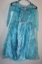 Disney Frozen Queen Elsa Blue Dress Size: 6 / 7