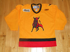 Vintage Reebok BELLEVILLE BULLS Youth CHL Canadien Hockey League Team JERSEY XL