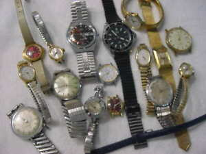 Lot of 15 + Vintage antique TIMEX Electric Diver Art Deco + other watch watches