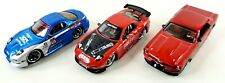 (Lot Of 3) Jada Toys Tuner Muscle Cars (Mazda Rx-7 & Ford Mustang)