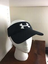 NEW UNDER ARMOUR Vizor Black Cap Hat Headwear Workout Gym