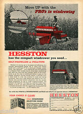 1968 Print Ad of Hesston 310 Windrower & P10 Pull Type Farm Tractor
