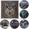 Decorative Fantasy Lisa Parker Wolf Picture Clock Stunning Wall Hanging Ornament