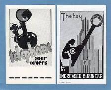 More details for 2 telephone promotion pcs unused 1932/3 bif olympia exhibition london ref m231