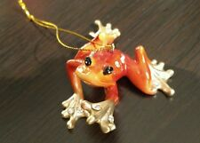 December Diamonds Orange Frog Zoology Christmas Ornament