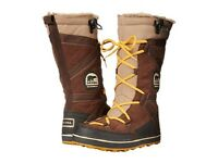 New in Box Sorel Glacy Explorer Womens Waterproof Lace Up Snow Ski Boots SZ 10.5