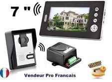 Interphone Visiophone Portier Vidéo Sans Fils Ecran Couleur 7 pouces Top Affaire