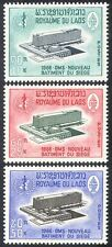Laos 1966 WHO/Health/Buildings/Architecture/United Nations 3v set (n32059)