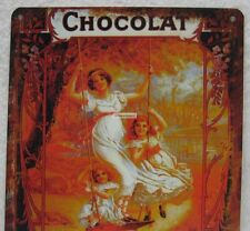 Retro Reproduction Tin Advertisement Sign Chocolat Kohler Chocolate Wall Decor
