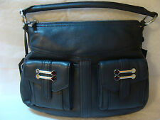 New AUTH RALPH LAUREN RL BERMONDSEY NAVY LEATHER  HOBO SHOULDER BAG HANDBAG