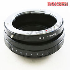 Contax Yashica C/Y CY lens to Panasonic Olympus Micro 4/3 Mount M43 Tilt Adapter