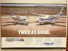 9/1986 PUB AVION CASA C-212 CN235 SPANISH AIRCRAFT FLUGZEUG ORIGINAL AD