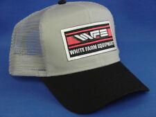 White Farm Equipment Tractor Hat - Black/Gray - Mesh - Snapback