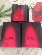 3 BOSS INTENSE WOMAN Hugo Boss 2ml-0.06oz Eau De Parfum Vial Sample SPLASH