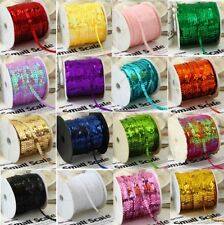 55 COLOURS 6mm Sequin Trim 2M 5M 10M String Round Sequins Sewing Craft Costume