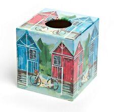 Beach House Tissue Box Cover wooden handmade in UK