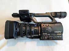 Sony HVR-Z7U High Definition DV Camcorder, scroll wheel worn
