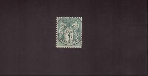 FR SAGE n°61 OBL PARIS 1877 SANS AMINCI N sous B Cote = 125 € TTB