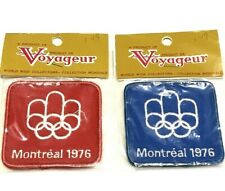 Lot Of 2 Vintage Montreal Olympics Embroidered Patch 1976 Original Packaging NOS