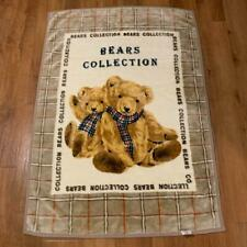 Koyo Bears Collection Thick Plush Baby Blanket or Soft Throw Yellow Gold 56 x 39
