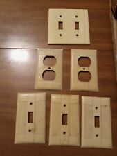 Off-White Hard Plastic vertical lines design electrical covers - socket/switches
