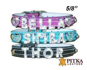 Rhinestone Dog Collars for Small Dogs  - Crystal Cat Collar - Small Bling Collar