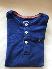 JOULES Boys Navy Blue Cotton Collarless T-Shirt Top 8 Years Old