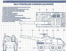 G.I. JOE Series 3 Blueprints Instructions SELF-PROPELLED CANNON (SLUGGER)