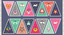 Makower 'Fantasy' Collection - Bunting Panel