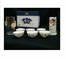 More details for bone china porcelain tea set chinese hand painted with crystal infuser