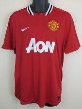 Nike 11-12 Camiseta de fútbol del Manchester United Epl Fútbol Jersey Camiseta Maglia L