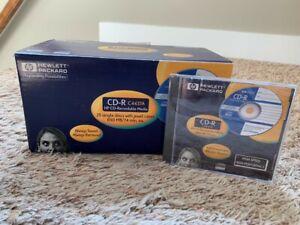 FULL BOX (25) BRAND NEW Hewlett Packard CD-R HP CD Recordable Discs LOT! C4437A
